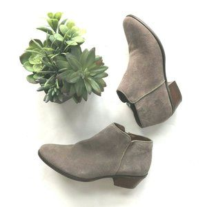Crown Vintage suede leather ankle booties